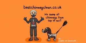 Exeter Chimney Sweep and dog