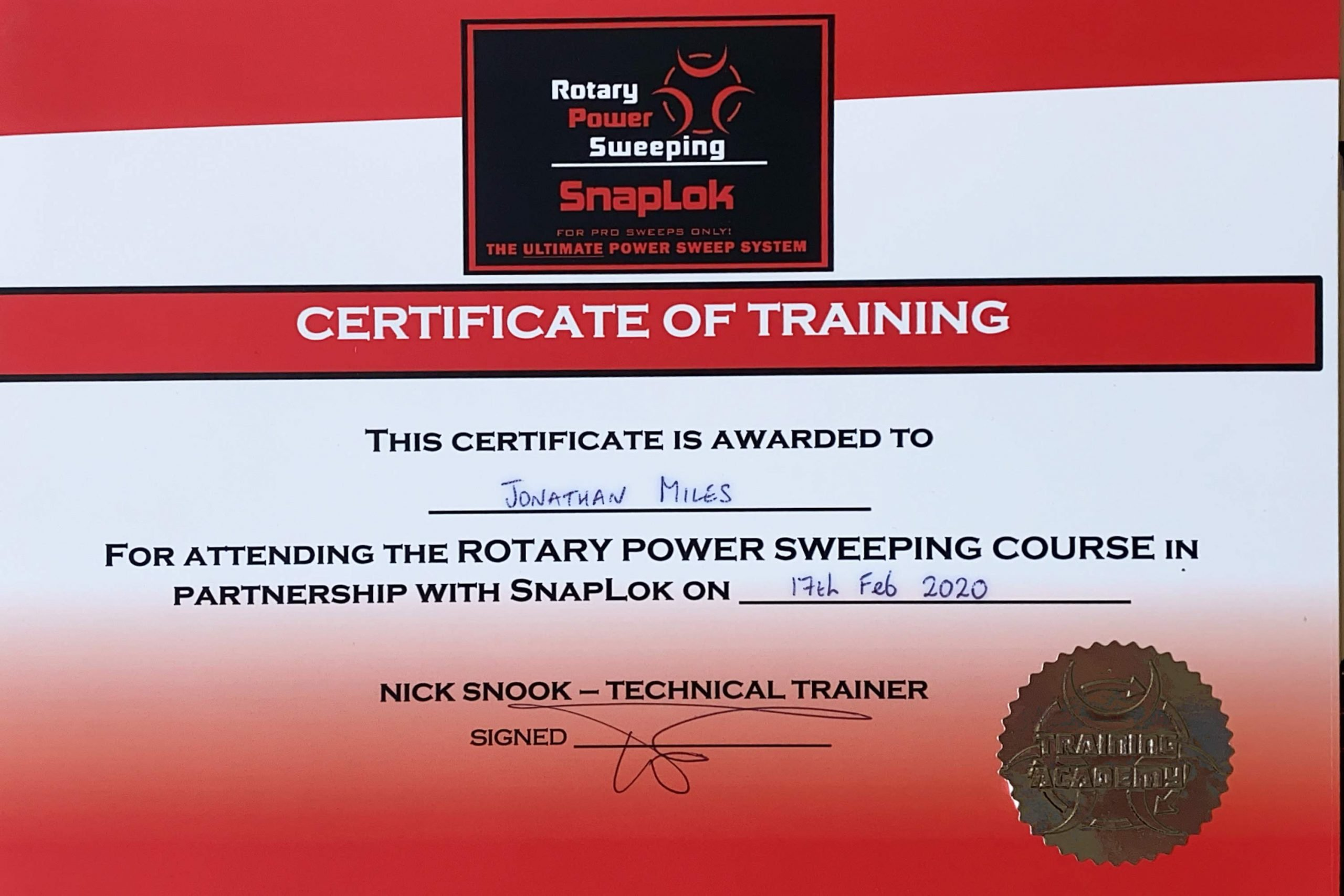 Exeter Chimney Sweep Rotary Power Sweeping Course